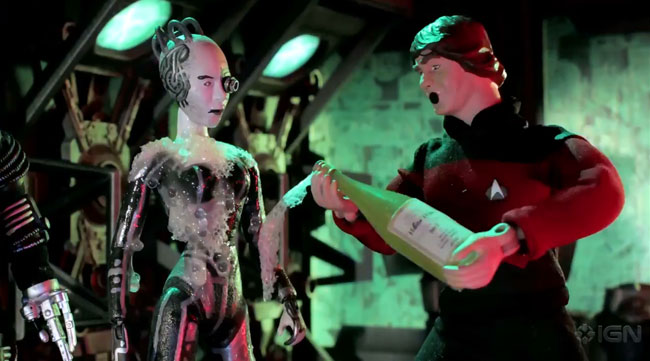 Robot Chicken Star Trek TNG Night Crew VS Borg Queen (Noidstrom Rack)