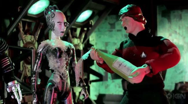Robot Chicken Star Trek TNG Night Crew VS Borg Queen (Noidstrom Rack)