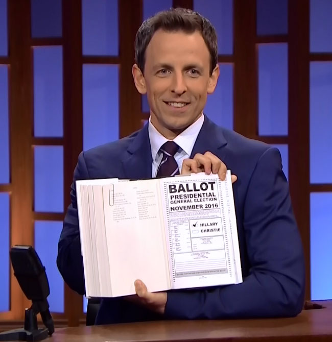 Seth Meyers reads between the lines of Hillary Clinton's book