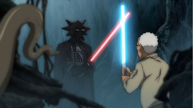 The Boondocks Star Wars Stinkmeaner Begun the Clone War Has (Darth Vader)