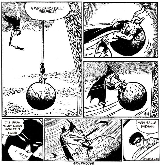 Batman The Jiro Kuwata Batmanga Cover (Lord Death Man) Batman Manga wrecking ball Miley Cyrus