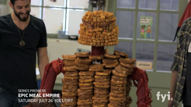 Epic Meal Empire a cooking show a la Frankenstein (fyi,)
