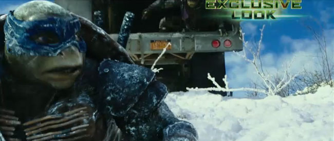 Megan Fox hosts Teenage Mutant Ninja Turtles special on Nickelodeon (snow sequence)