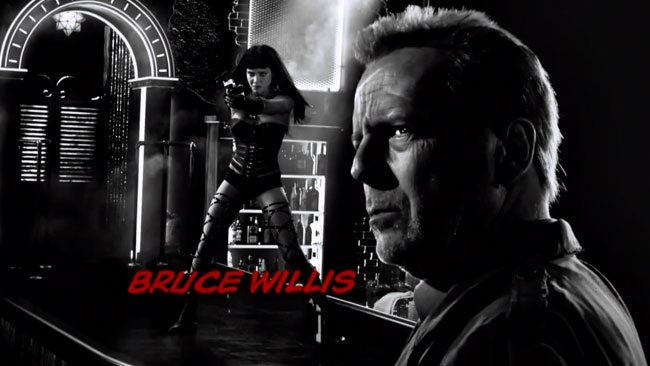 Sin City A Dame to Kill For trailer character intros (Bruce Willis)