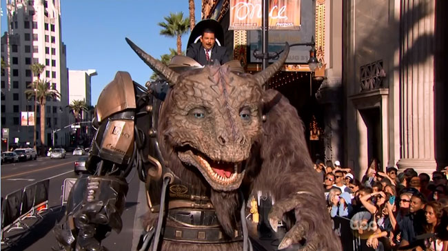 Wired demos Comic-Con animatronic dragon on Jimmy Kimmel Live