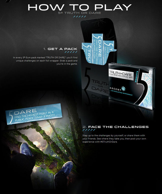 5 Gum commercial truth or dare rules