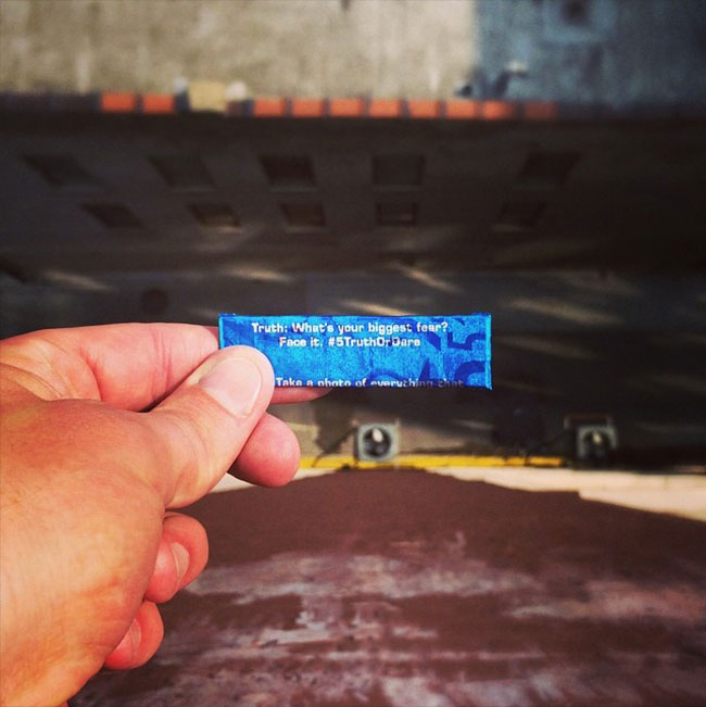 5 Gum truth or dare stunt fear of heights