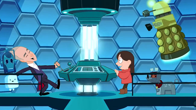 Animated Doctor Who opening starring 12th Doctor