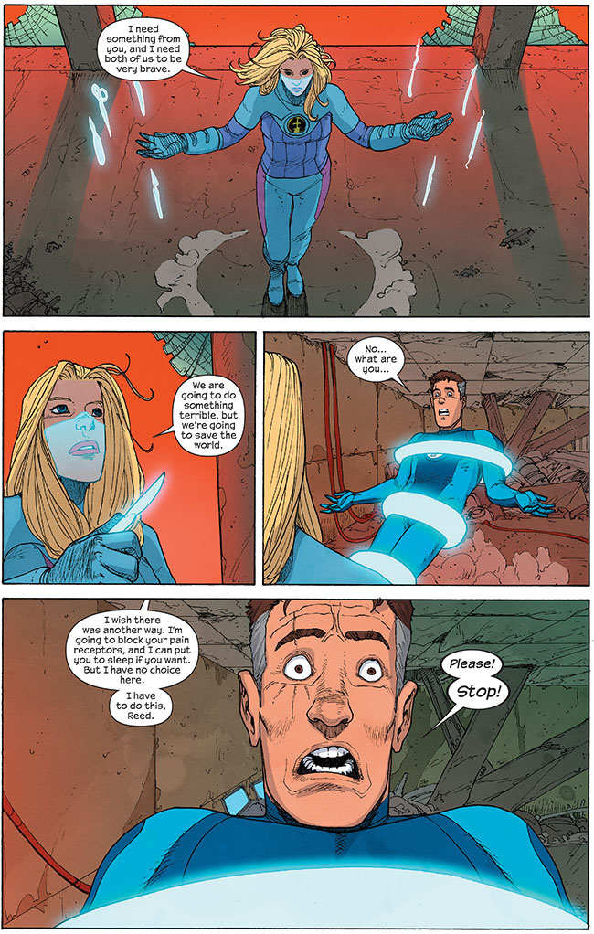 Fantastic Four Invisible Woman rapes Mister Fantastic force field surgery (Susan Storm and Reed Richards Ultimate FF 5)