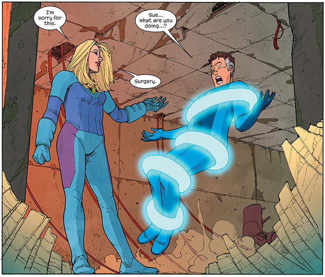 Fantastic Four Invisible Woman rapes Mister Fantastic (Susan Storm and Reed Richards Ultimate FF 5)