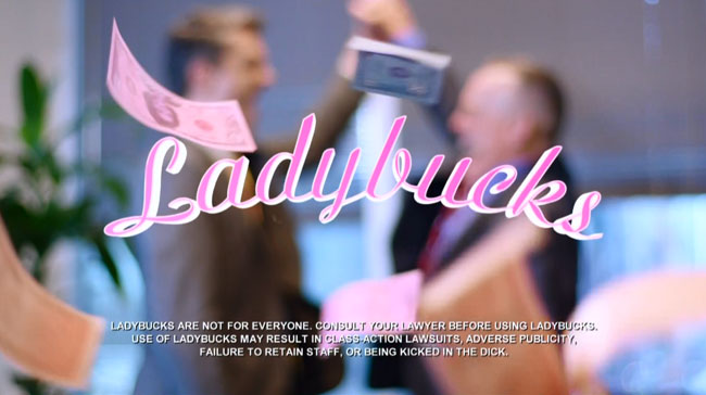 John Oliver issues Ladybucks for gender pay gap disclaimer.