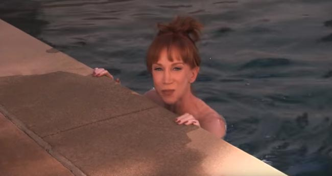 Kathy Griffin ALS Ice Bucket Challenge on Jimmy Kimmel