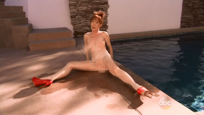 Kathy Griffin naked ALS Ice Bucket Challenge Jimmy Kimmel