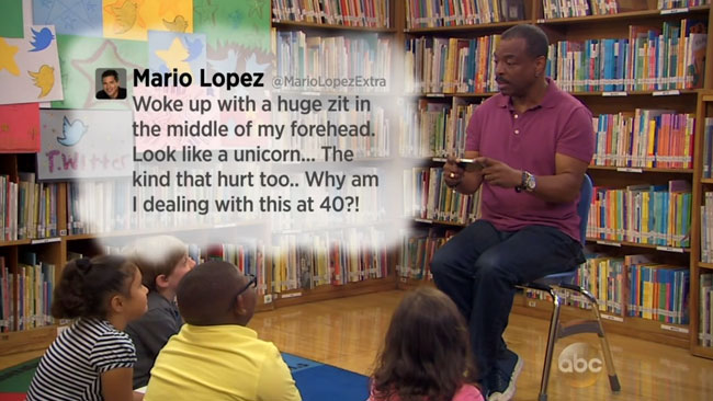 LeVar Burton Tweeting Rainbow Reading Rainbow Jimmy Kimmel Mario Lopez