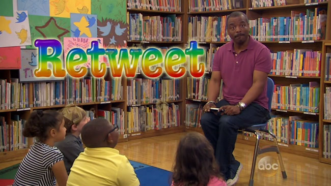 LeVar Burton Tweeting Rainbow Reading Rainbow parody Jimmy Kimmel
