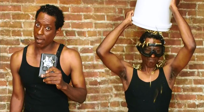 Orlando Jones takes Bullet Bucket Challenge for Ferguson