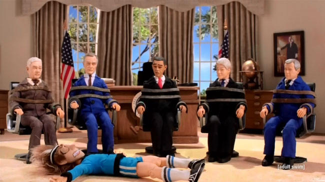 Robot Chicken Chipotle Miserables Presidents Obama Clinton Bush Carter