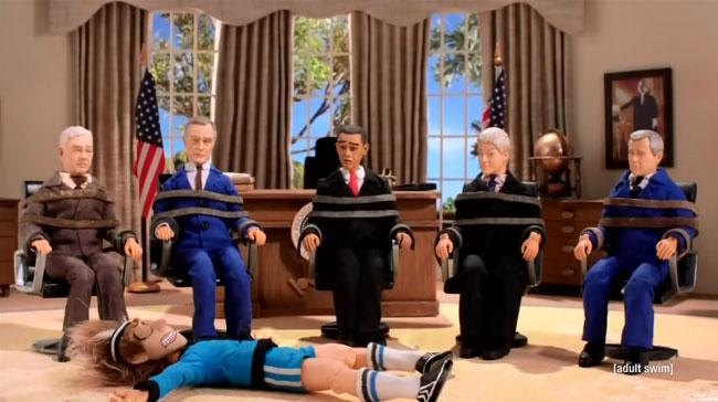 Robot Chicken Chipotle Miserables Presidents Obama Clinton Bush Carter
