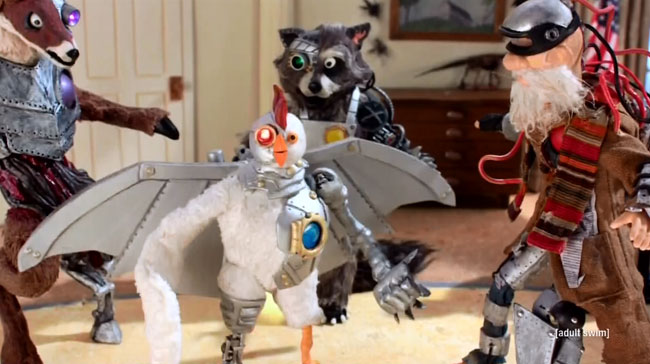 Robot Chicken Chipotle Miserables Robot Deer Raccoon Homeless Robohobo