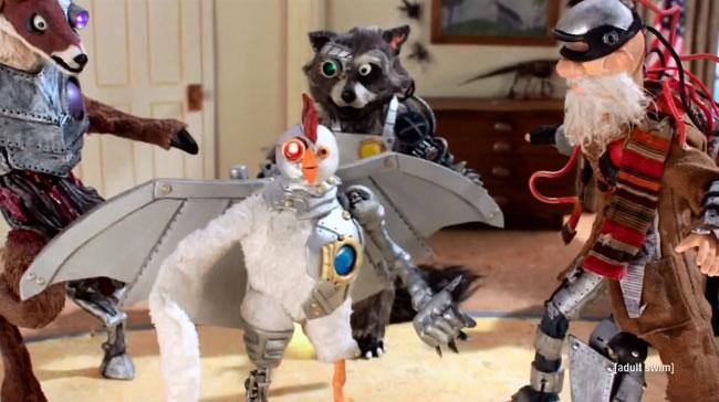 Robot Chicken Chipotle Miserables Robot Deer Raccoon Homeless Robohobo
