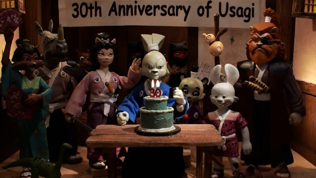 "Stop motion animated Usagi Yojimbo short film ""The Last Request"""