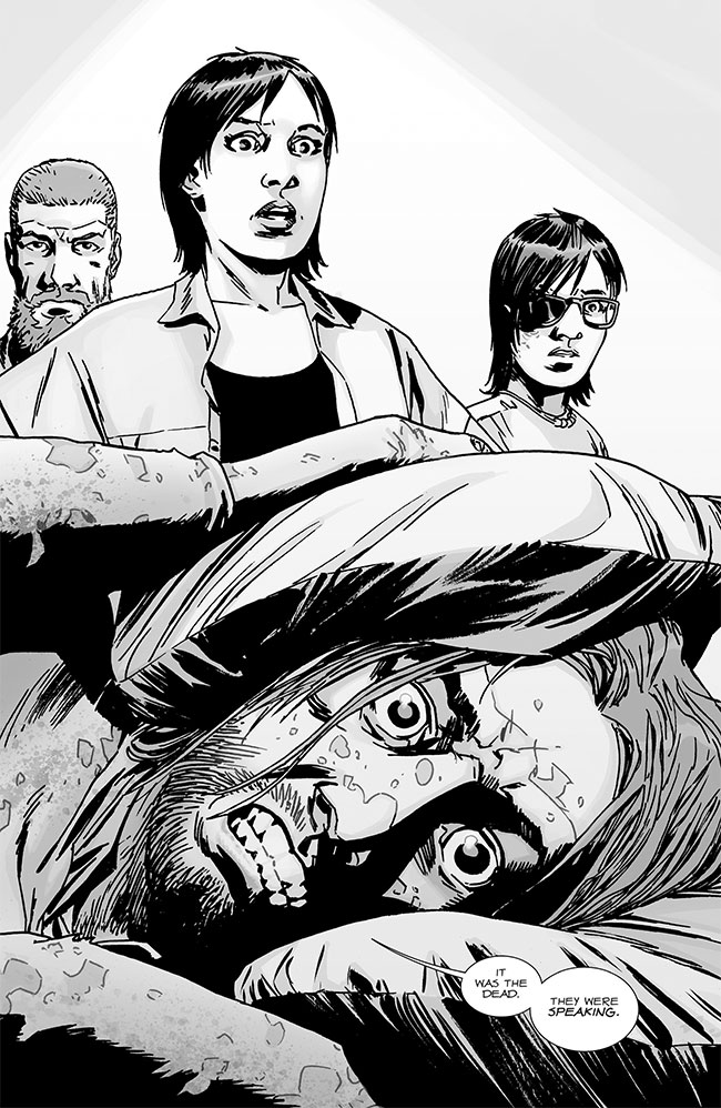 Walking Dead #130 Marco talking zombies