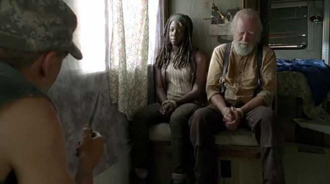 Walking Dead deleted scene Michonne rape scene (Danai Gurira)