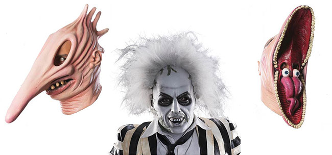 Beetlejuice Halloween costumes Adam and Barbara Maitland Stretchy Face