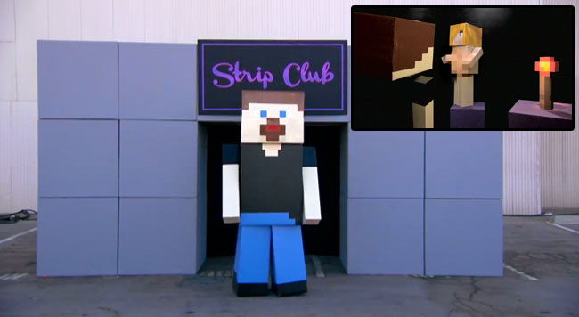 Conan builds Minecraft strip club