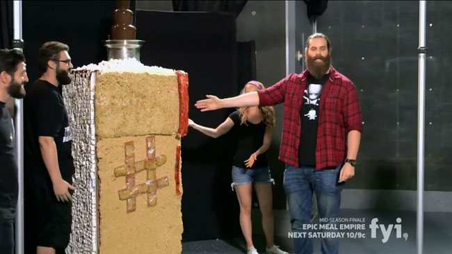 Epic Meal Empire Fat Midnight refrigerator Chris Hardwick