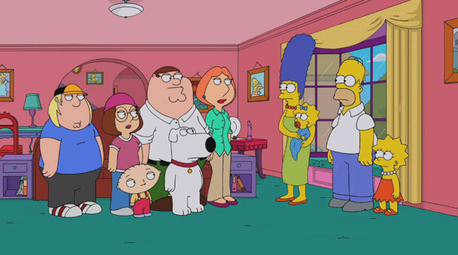 Family Guy Simpsons crossover preview car wash The Simpsons Guy Bart