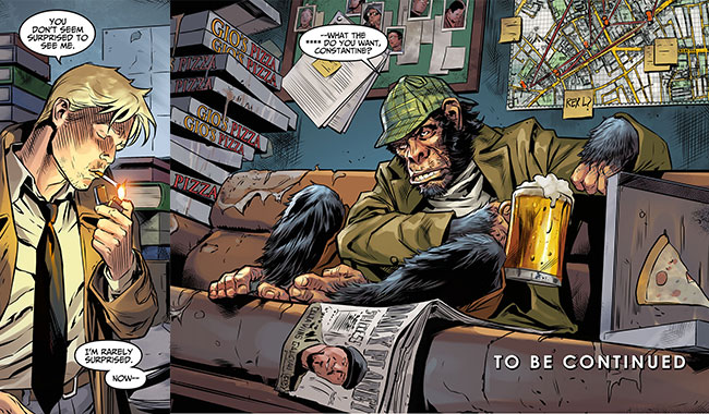 Injustice Gods Among Us Year Three 1 John Costantine Detective Chimp