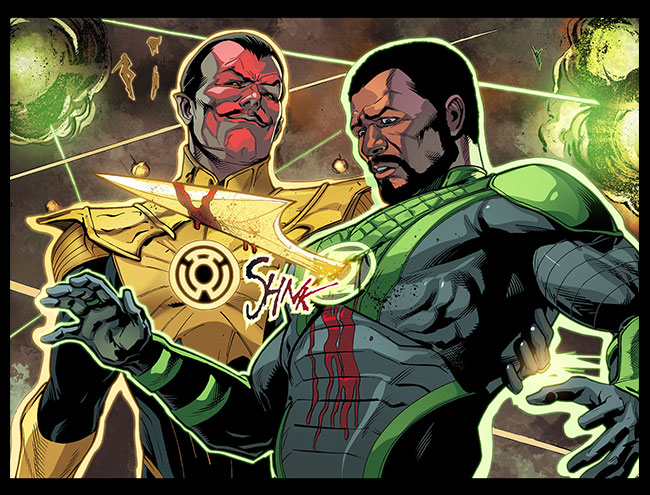 Injustice Gods Among Us Year Two 23 Sinestro kills Green Lantern John Stewart