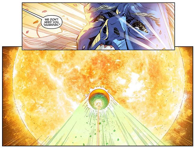 Injustice Gods Among Us Year Two 24 Yellow Lantern Superman Green Lantern Mogo Ganthet sun