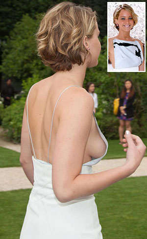 Jennifer Lawrence nude breasts leak photos fashion week