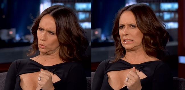 Jennifer Love Hewitt ugly faces on Jimmy Kimmel