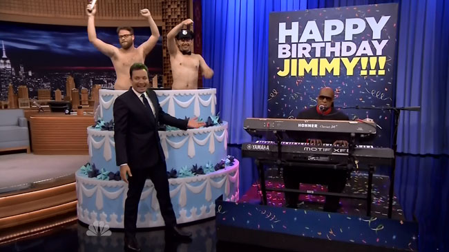Jimmy Fallon birthday: Seth Rogen, James Franco, Stevie Wonder