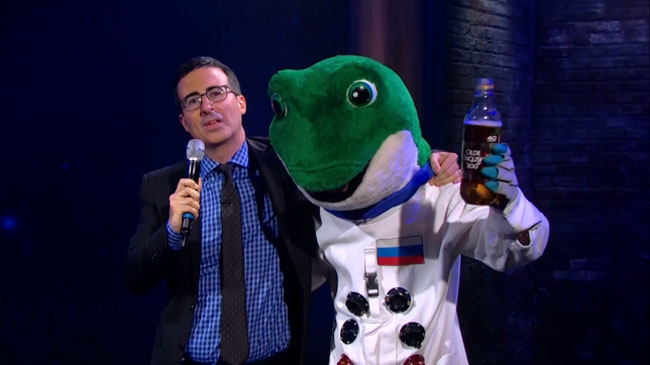 John Oliver gives dead Space Geckos musical send off A Great Big World