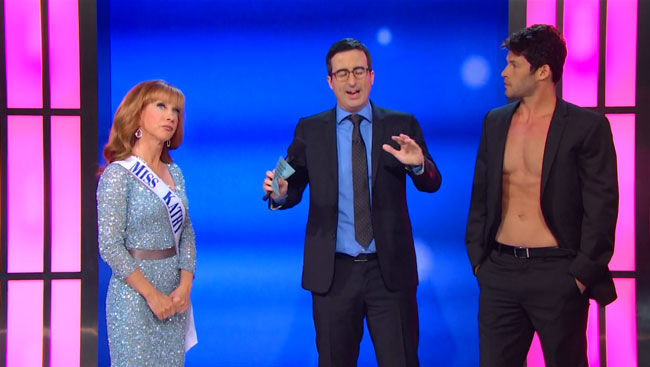 John Oliver loses beauty pageant judged by Kathy Griffin Giuseppe