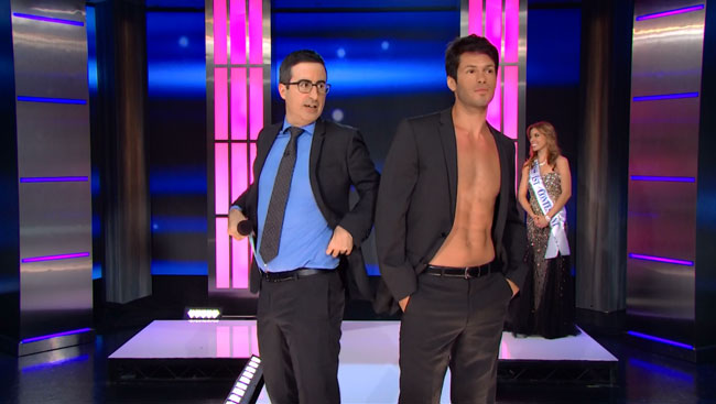 John Oliver loses beauty pageant judged by Kathy Griffin