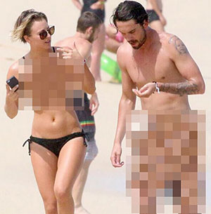 Kaley Cuoco nude photos hacked censored