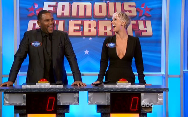 Kaley Cuoco spanked Anthony Anderson Jimmy Kimmel famous celebrity