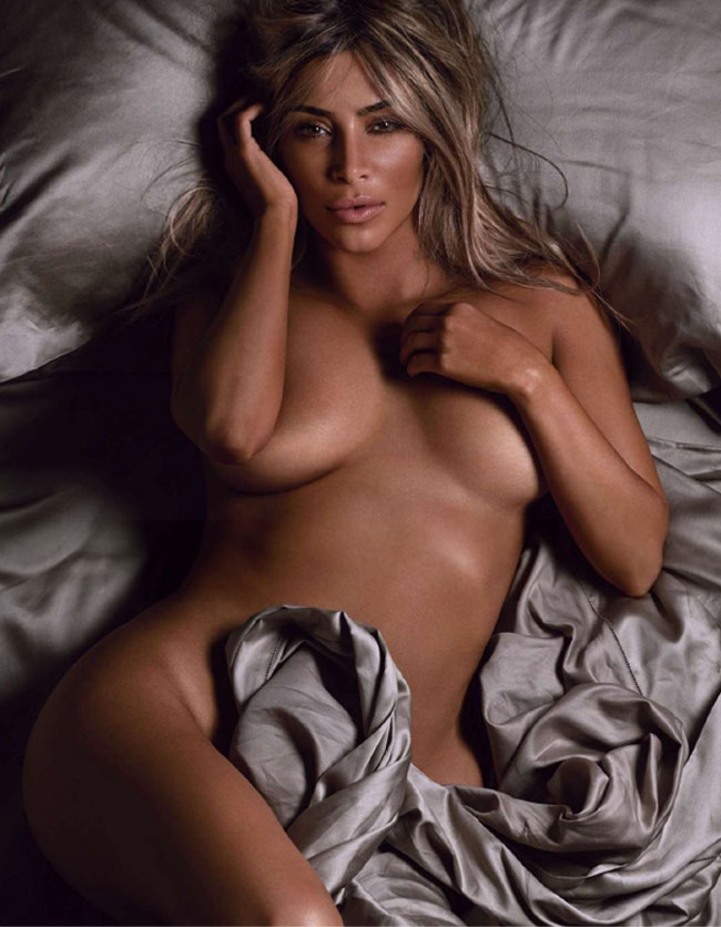 Kim Kardashian nude GQ 2014 woman of the year breasts