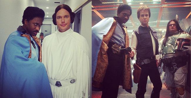 SNL Chris Pratt Princess Leia Bobby Moynihan Boba Fett Jay Pharoah Lando Taran Killam Han Solo Star Wars
