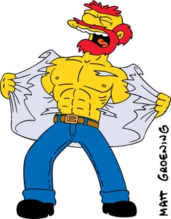 Simpsons Groundskeeper Willie shirtless