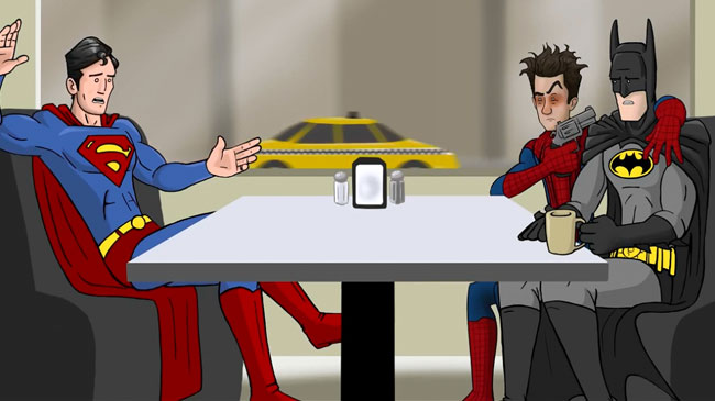 Spider-Man Batman Superman to go back in time save Gwen