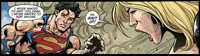 Superman kills Black Canary baby Injustice Gods Among Us Year Two 22