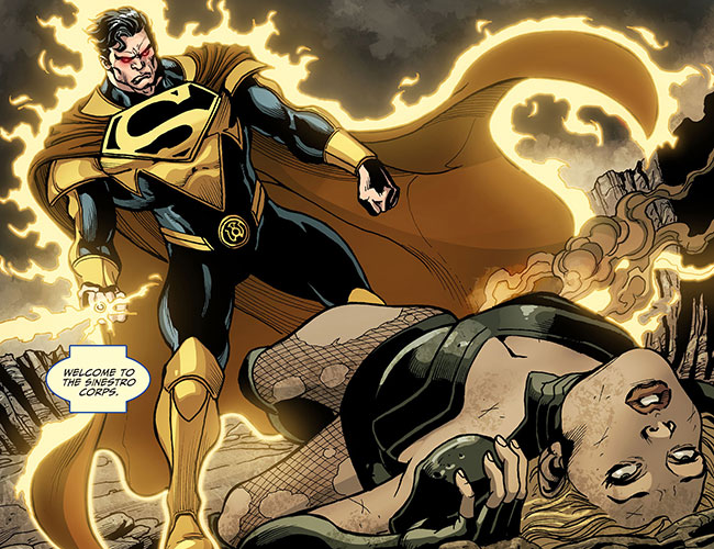 Yellow Lantern Superman kills Black Canary baby Injustice Gods Among Us Year Two 22