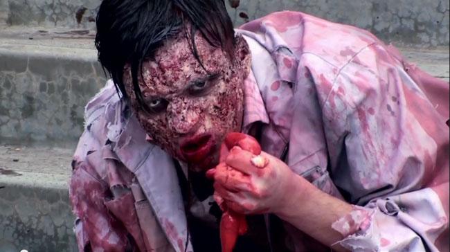 Zombie prank terrorizes Australia