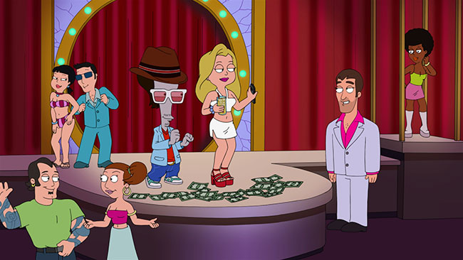 American Dad TBS Blonde Ambition stripper Blond Hayley Roger